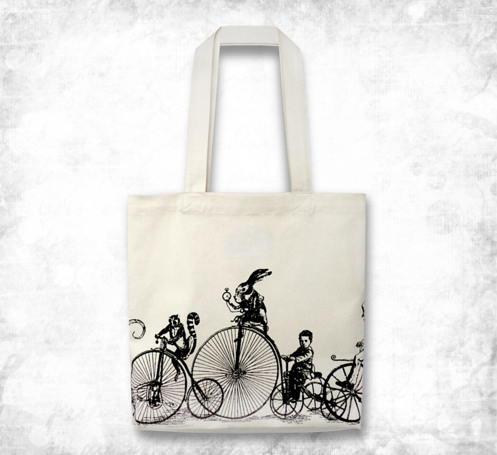Penny farthing 'Velocipedes' Tote bag