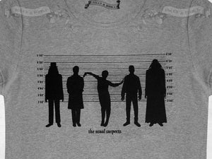 What we do in the shadows~ 'The Usual Suspects' Womens Top ~ grey marle