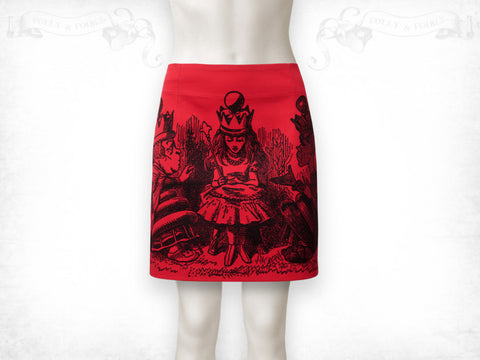 Queen for a day skirt- Red
