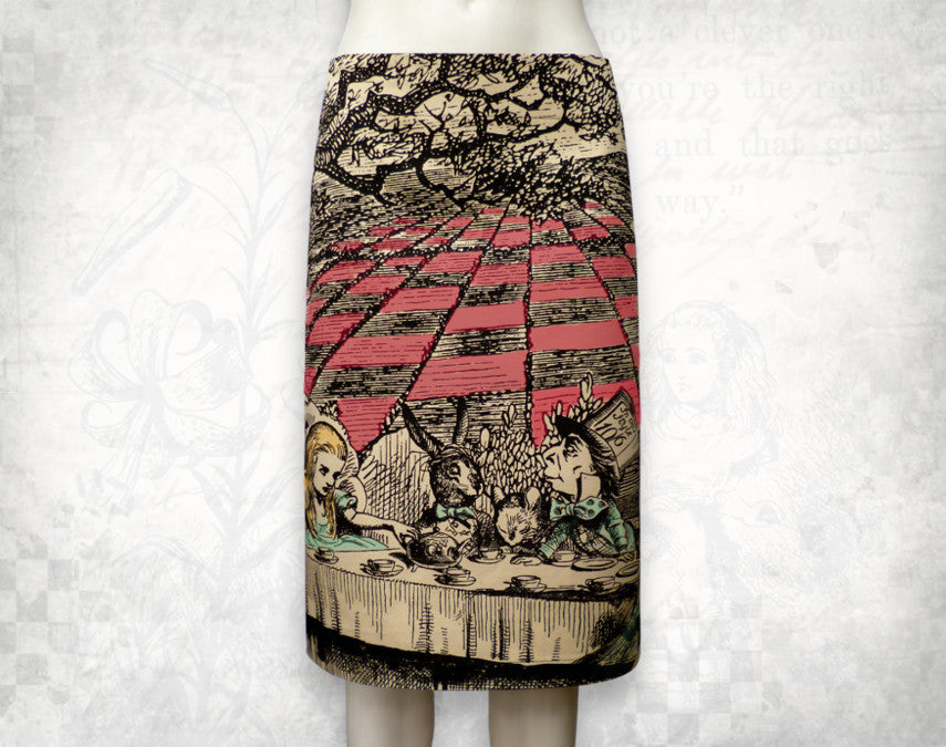 Alice in Wonderland 'Mad tea party' Skirt  Colour~ 3/4 length