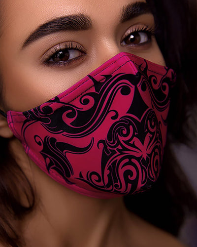 PM2.5 Print Breathing Washable Face Mask (1 filters as gift)