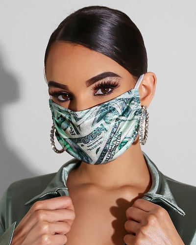Dollar Print Breathable Mouth Mask Washable And Reusable