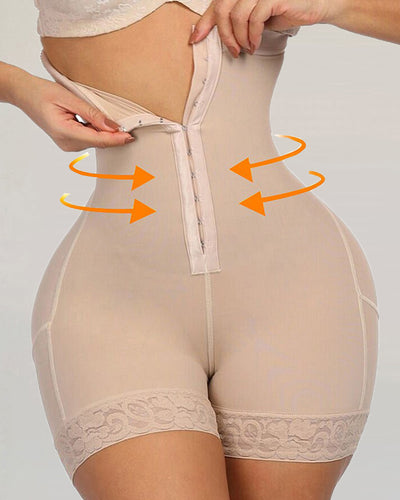Lace Butt Lifter High Waist Trainer Body Shapewear Slimming Underwear With Tummy Control Panties