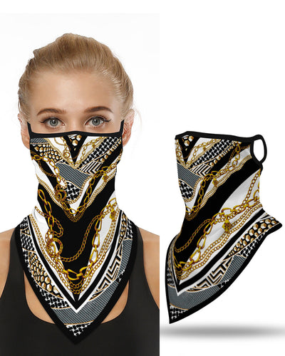 Chain Print Breathable Face Cover Windproof Bandana Outdoors