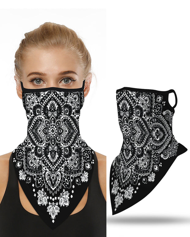 Print Breathable Face Cover Windproof Motorcycling Dust Outdoors