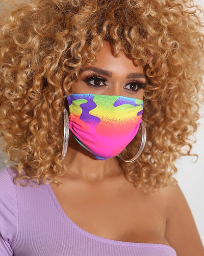 Colorblock Breathable Mouth M .a. s. k Washable And Reusable