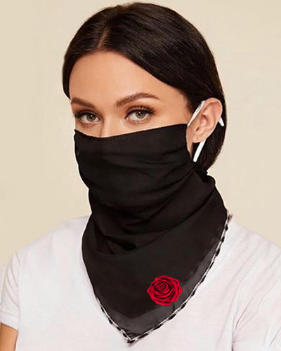 Floral Print Breathable Ear Loop Face Cover
