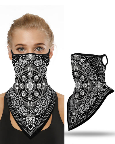 Skull Print Breathable Face Cover Windproof Bandana