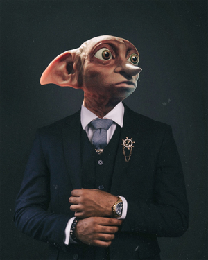 "Dapper Dobby Original Artwork 8x10"" Print - @Cult.Class"