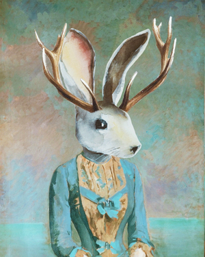 "Jackalope Original Artwork 8x10"" Print - @Cult.Class"