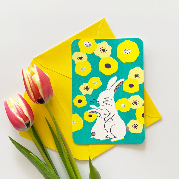 Greeting Card - Rabbits