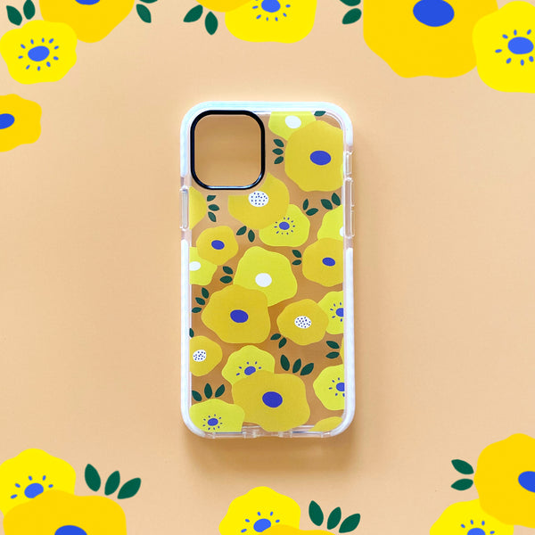 iPhone Clear Case - Yellow Flower