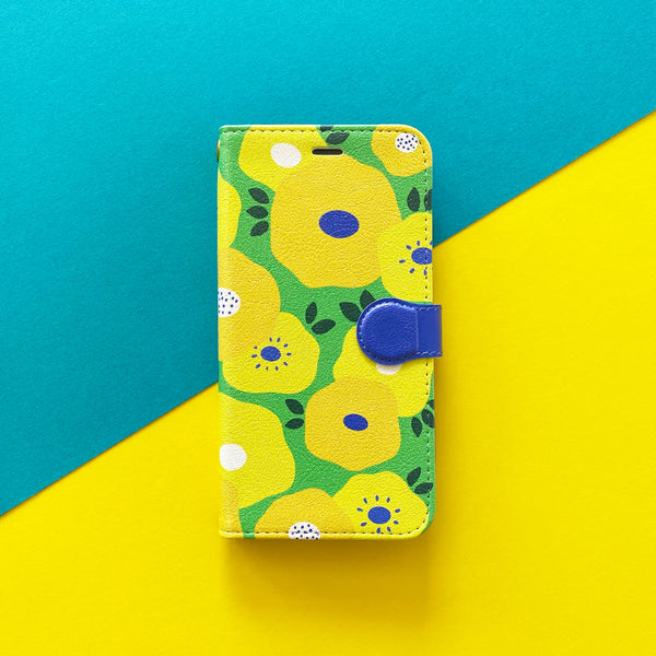 iPhone Folio Case - Yellow Flower