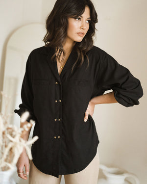 House Blouse - Black