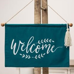 Welcome Fabric Wall Hanging