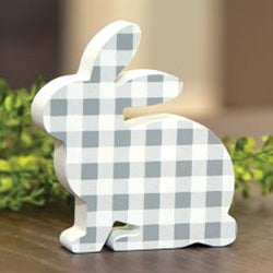 Gray & White Check Bunny