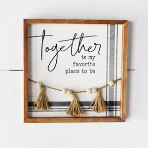 Together Bead Sign