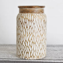 Load image into Gallery viewer, Carved Wood Jar