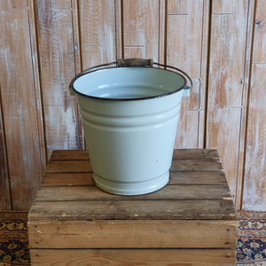 Light Blue Enamel Bucket