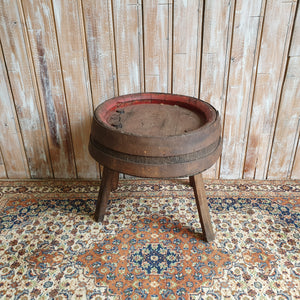 Rustic Barrel Drinks Table