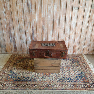 Case 7: Large Leather Suitcase With Wording