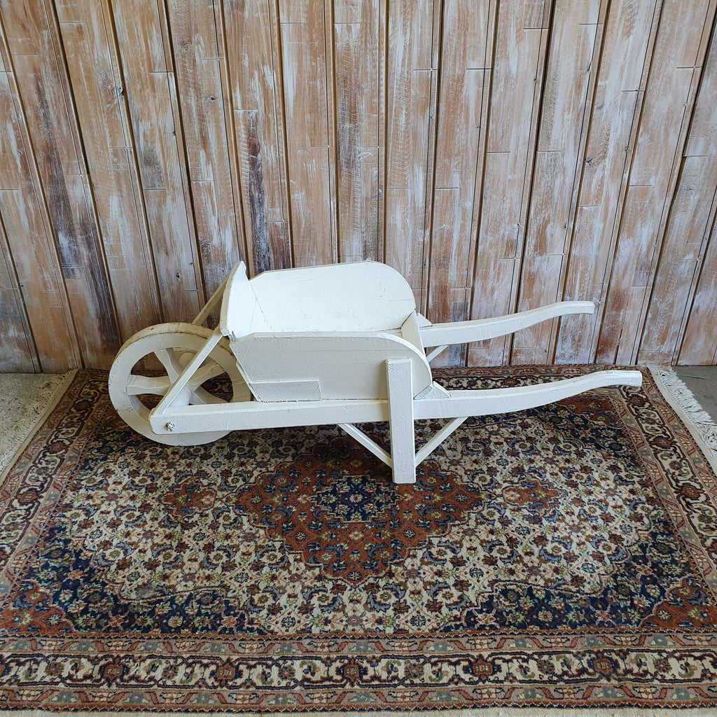 Rustic White Wheelbarrow