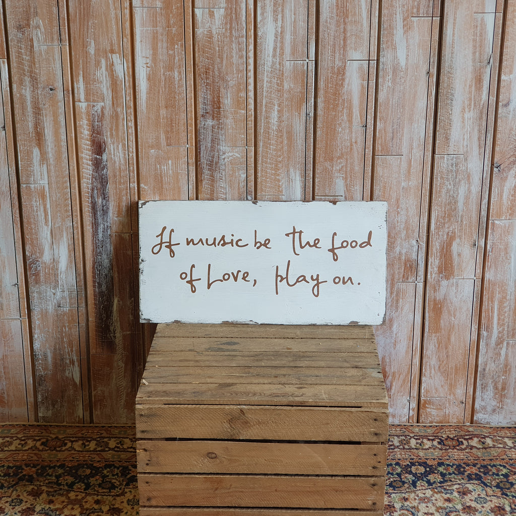 Wooden Music Love Sign