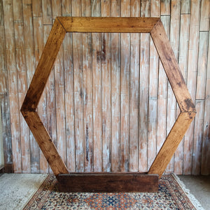 Wooden Hexagonal Backdrop