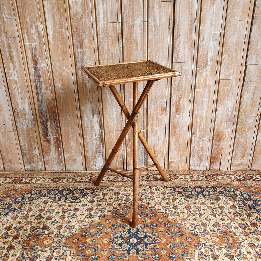 Square Top Bamboo Table