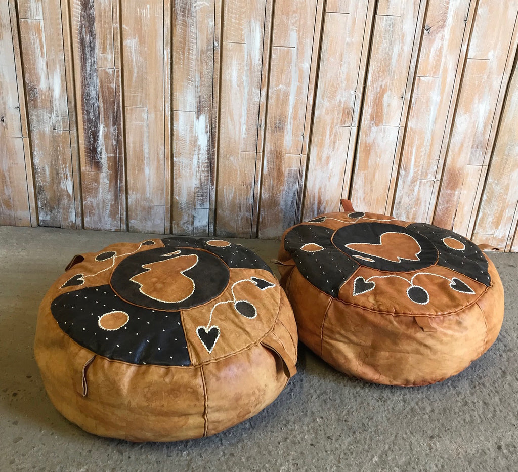 Brown Pouffe