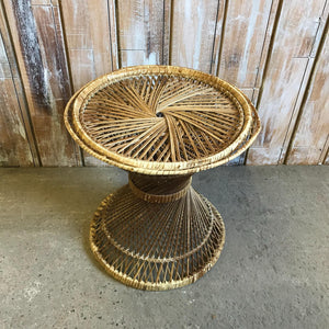 Wicker Twisted Side Table