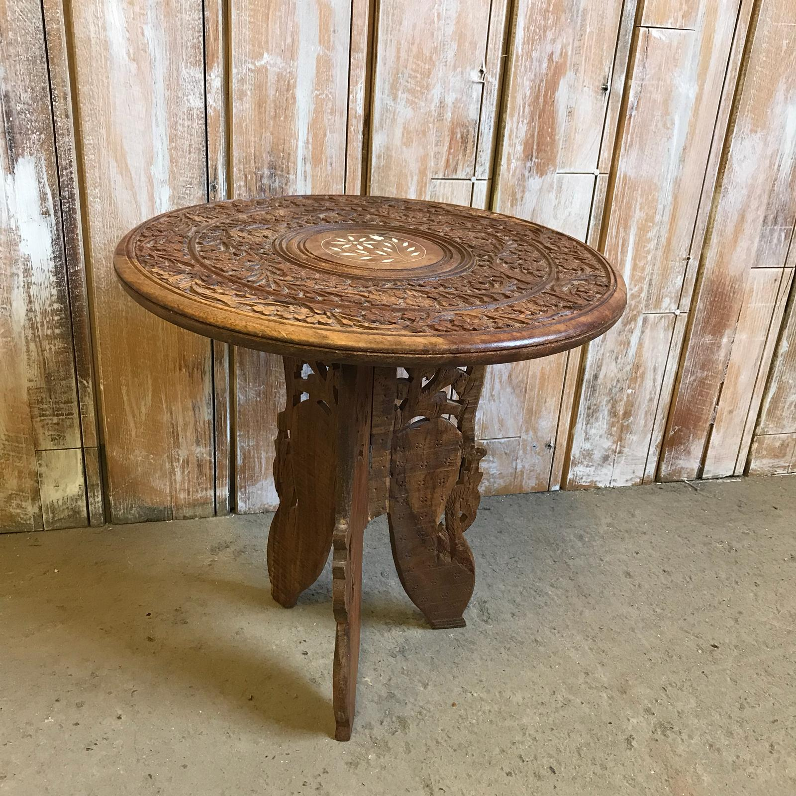 Wooden Carved Moroccan Table