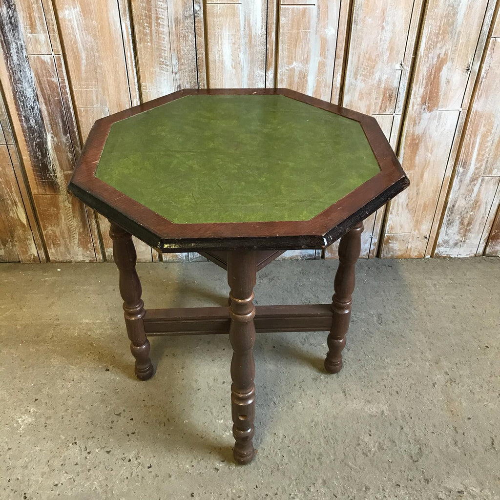 Green Leather Top Table