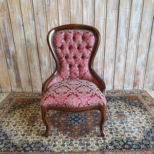 HAZEL: Red Patterned Chair