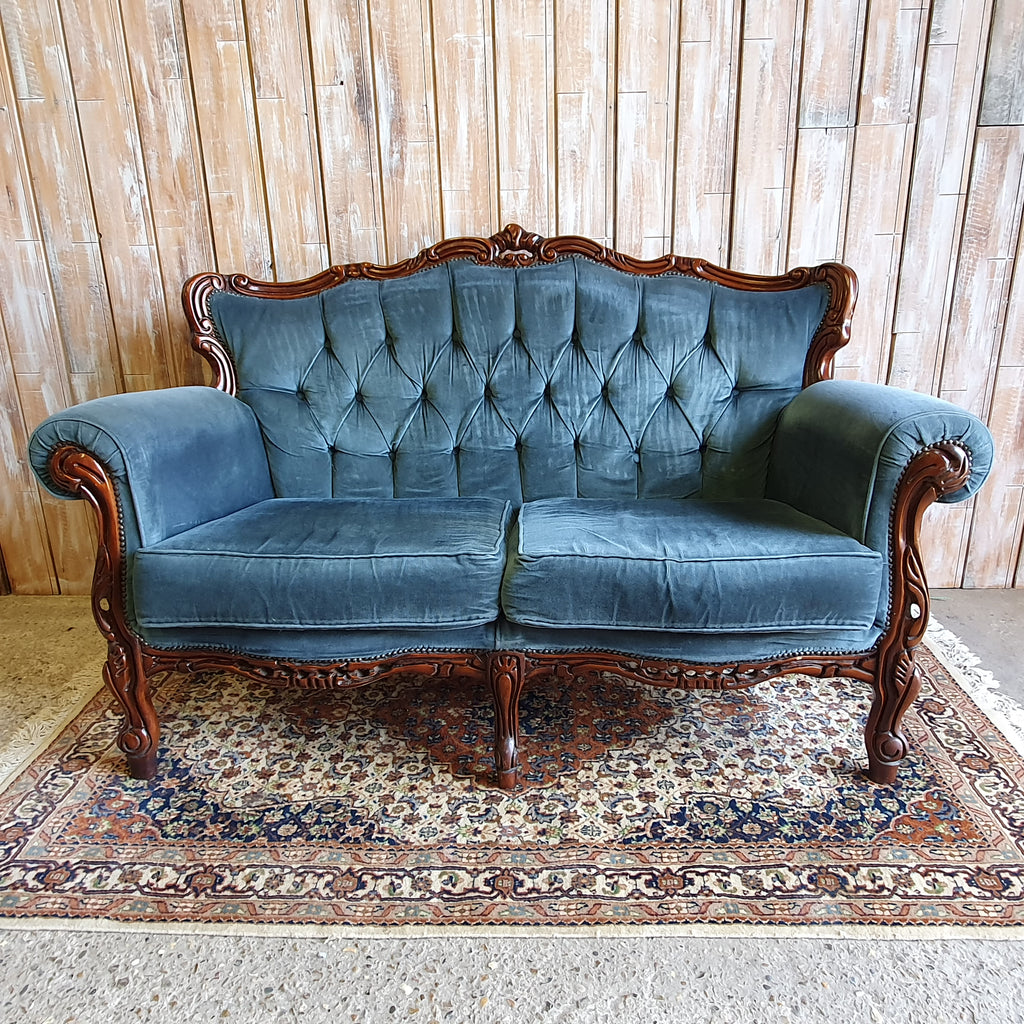 TILLIE: Teal Two Seater Sofa
