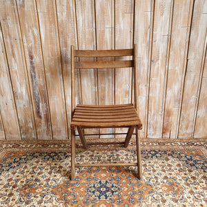 Wooden Vintage Folding Chair