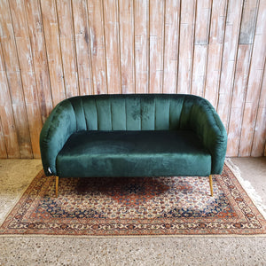 MIAMI: Contemporary  Green Two Seater Sofa