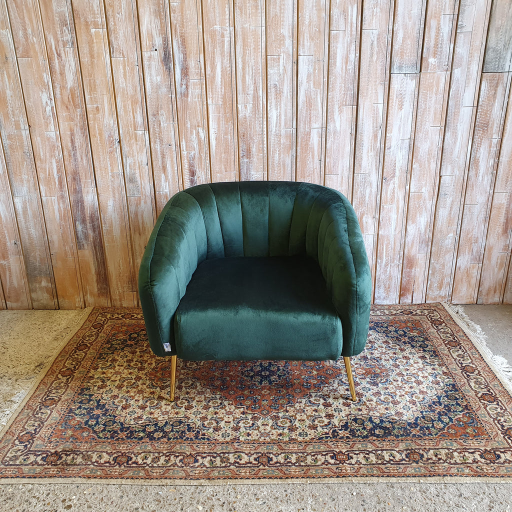 LEX: Contemporary Green Single Seater Chair