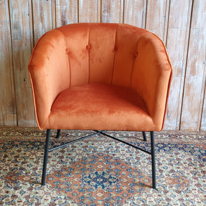 HOXTON: Contemporary Orange Bucket Chair