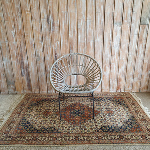 Grey Wash Wicker Chair
