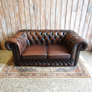 JAMIE: Brown Chesterfield Sofa
