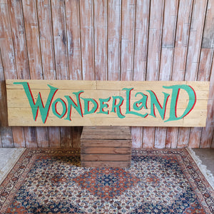 Large Wonderland Sign
