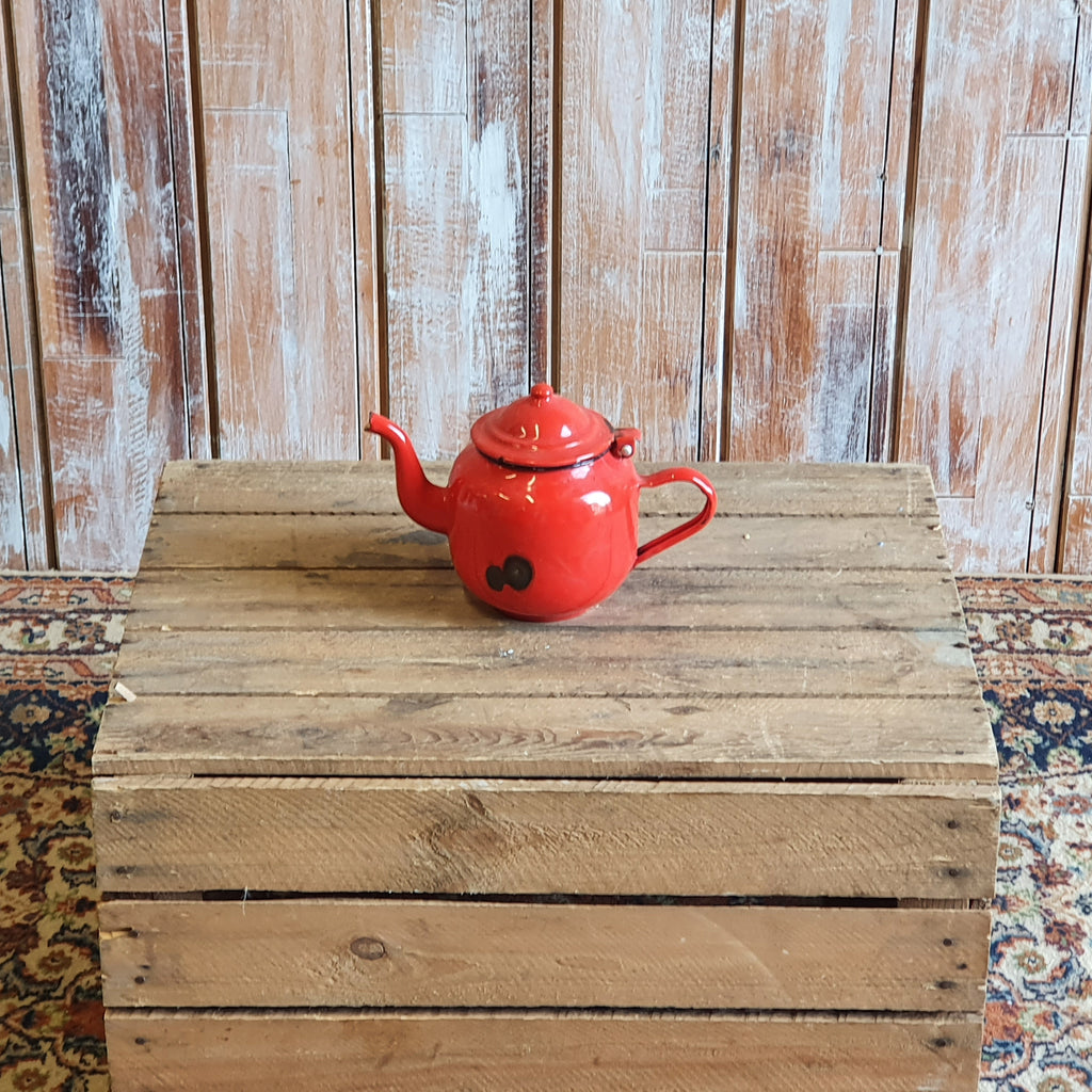 Vintage Red Tea Pot
