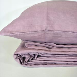 Bed Linen Pure French Linen Quilt Cover  +2 Pillow Cases Lavender