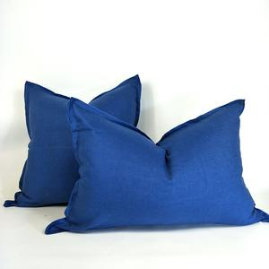 Cushion French Linen Heavy Feather Filled Navy in 2 Sizes