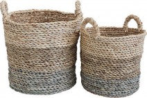 Baskets Tub Seagrass Set Of Two