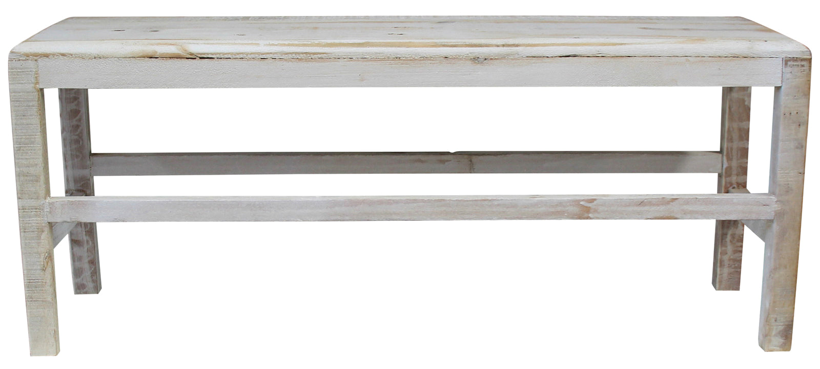 Bench Timber Whitewash Large