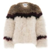 Jacket Frankie Camel, Black, Wine and Cream