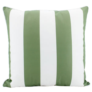 Cushion Outdoor Stripe Olive 50cm x 50cm