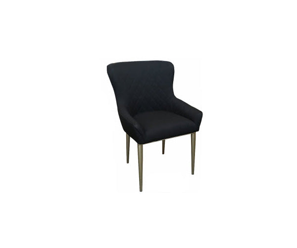 Chair Chelsea Black Gold Legs